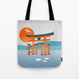 Japanese Shinto at Morning Tote Bag