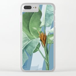 Tropical heaven Clear iPhone Case