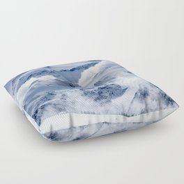 Snowy Mountains and Glaciers Floor Pillow