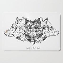 Learn To Speak Wolf Cutting Board
