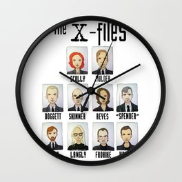 X FILES Wall Clock