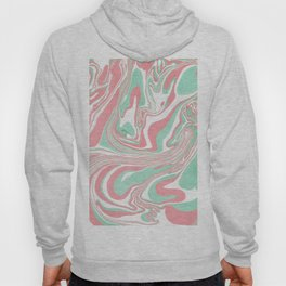 Elegant pink green abstract watercolor marble Hoody