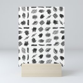 Sribble pattern mud-cloth Mini Art Print
