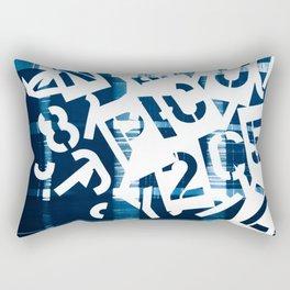 Stencil WordPlay Rectangular Pillow