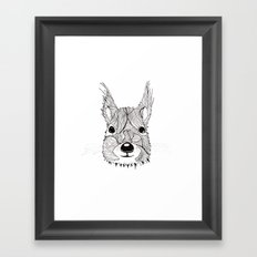Squirrel sketch Framed Art Print