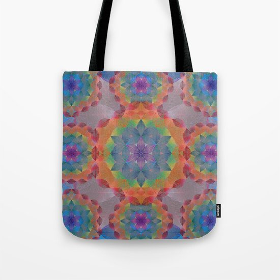 The Flower of Life - Leaf Pattern Tote Bag