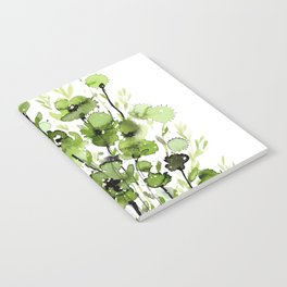 Floral Charm No.1I by Kathy Morton Stanion Notebook