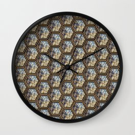 Floral Repetition Wall Clock