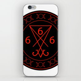 666- the number of the beast with the sigil of Lucifer symbol iPhone Skin