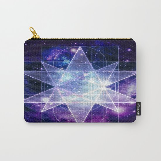 Purple Galaxy Sacred Geometry : Stellated Icoshadron Carry-All Pouch