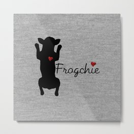 Frogchie French Bulldog Metal Print