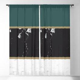 Marble Mix Stripes #4 #black #white #green #gold #decor #art #society6 Blackout Curtain
