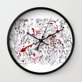 Schizo Pop Wall Clock