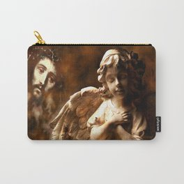Jesus Hears Prayers By Annie Zeno Carry-All Pouch