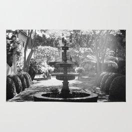 Charleston Black and White Fountain Rug