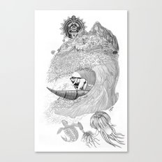 Machu Qun Tiksi Wiraqucha Canvas Print