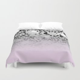 Concrete and Black Marble Mix Pink Gradient Duvet Cover