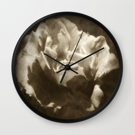 Rosas Moradas 5 Antiqued Wall Clock