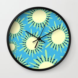 Kiwi Sun Print | Kiwi Print | Summer | Fruity Print | pulps of wood Wall Clock