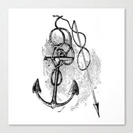 Anchor and harpoon. Canvas Print