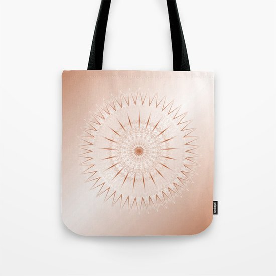 Rose Gold Mandala Tote Bag
