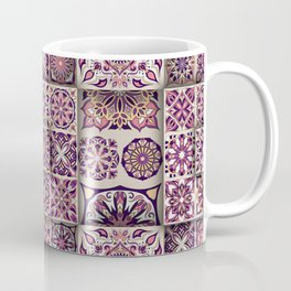 Vintage Mosaic Mandala Pattern Coffee Mug