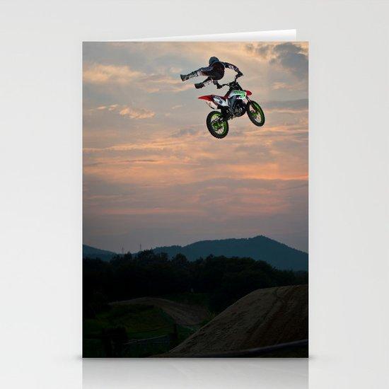 Yuuya Takano Flying at Sunset, FMX Japan Stationery Cards