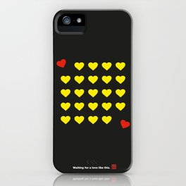 Waiting for a love like this. iPhone Case