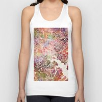 baltimore Tank Tops featuring Baltimore map by MapMapMaps.Watercolors