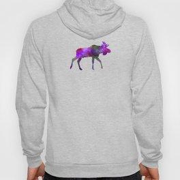 Moose 01 in watercolor Hoody