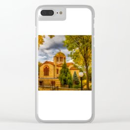 Autumn at Holy Cross Greek Clear iPhone Case