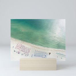 Helicopter View of Miami Beach Mini Art Print