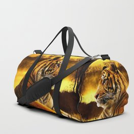 Tiger and Sunset Duffle Bag