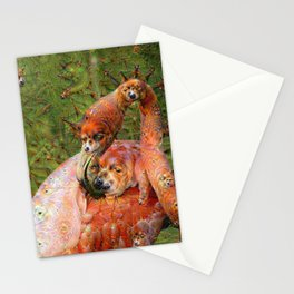 Dream Creatures, Flamingo, DeepDream Stationery Cards