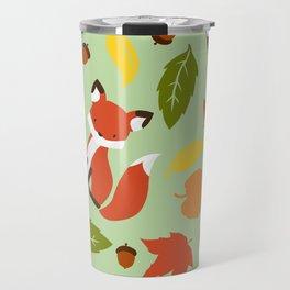 Fox Jumble - Sea Foam Travel Mug