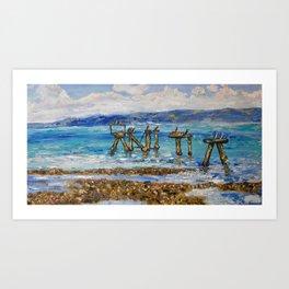 MACLEAY ISLAND HIDE AWAY Art Print