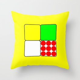 Tour de France Jerseys 3 Yellow Throw Pillow