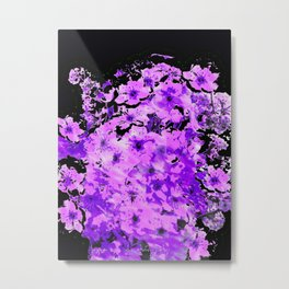 Almond Blossoms in Lavender Metal Print