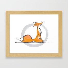 Tranquil Meditating Fox (Dark) Framed Art Print