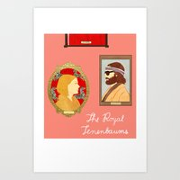 the royal tenenbaums Art Prints featuring The Royal Tenenbaums by Anna Valle