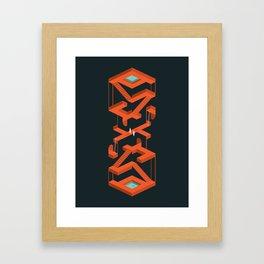 Monument Maze Framed Art Print