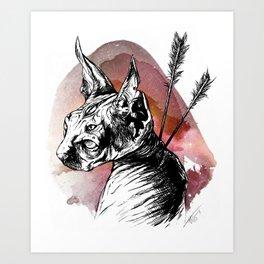 GUARD SPHINX - GALAXY Art Print
