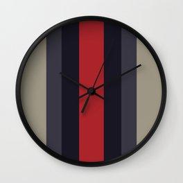 High Fashion Designer Style Stripes Wall Clock