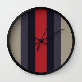 High Fashion Designer Style Stripes Wall Clock