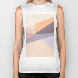 Modern  geometric abstract pastel lilac pink  color block Biker Tank