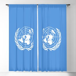 United Nations Flag Blackout Curtain
