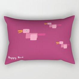 Happy Bird-Pink Rectangular Pillow