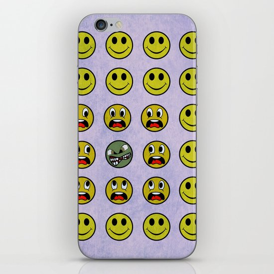 Attack of the Zombie smiley! iPhone & iPod Skin