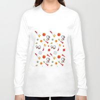 snoopy Long Sleeve T-shirts featuring Snoopy Space by Yildiray Atas