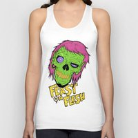 in the flesh Tank Tops featuring Feast On Flesh by Twisted Dredz